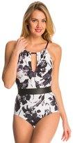 Carmen Marc Valvo Caribbean Breeze Elizabeth High Neck One Piece Swimsuit 8142803