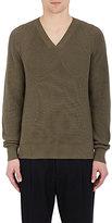 Lemaire Men's Cotton-Cashmere V-Neck Sweater