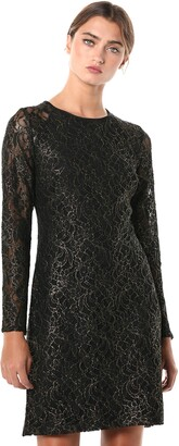 Tommy Hilfiger Women's Long Sleeve A-line Lace Dress