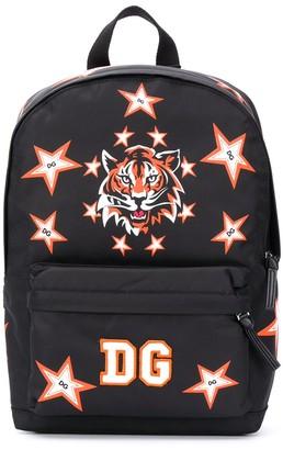Dolce & Gabbana Kids Tiger-Print Backpack