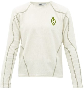 Gmbh - Eye-embroidered Long-sleeved Cotton T-shirt - Mens - Cream