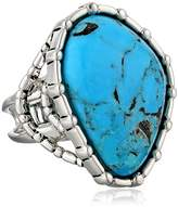 "Barse Silhouette"" Sterling Silver Turquoise Abstract Ring, Size 6"