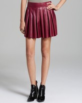 Skirt - Box Pleat Leather