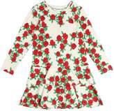 Mini Rodini Roses Print Organic Cotton Jersey Dress