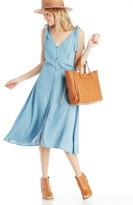Sole Society Button Down Sleeveless Dress