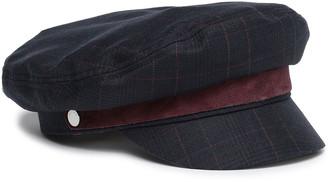 Rag & Bone Suede-trimmed Checked Wool-blend Cap