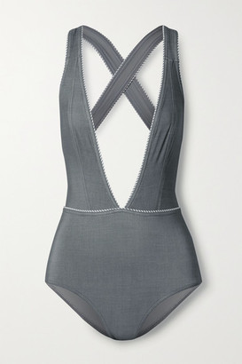 Karla Colletto Tilda Swimsuit - Light gray