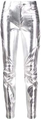 Pinko slim metallic trousers