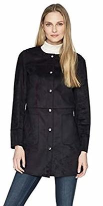 Ellen Tracy Women's Snap Front Reversible Suede Coat