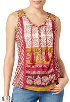 Style And Co. Petite Embroidered Peasant Top