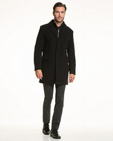 Le Château Wool Blend Velour Crombie Coat