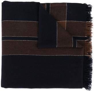 Brunello Cucinelli checked intarsia scarf