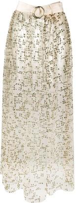 Rachel Comey Glitter Embellished Belted Skirt