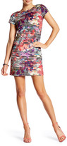 Maggy London Abstract Stripe Shift Dress (Petite)