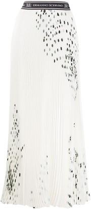 Ermanno Scervino Polka-Dot Pleated Skirt
