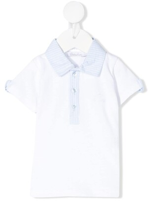 Patachou Striped-Collar Polo Shirt