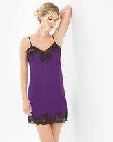 Soma Intimates Slinky Lace Sleep Chemise Royal Purple