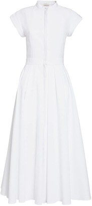 Alexander McQueen Cotton Piquet Midi Dress