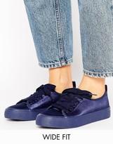 Asos DARLING Wide Fit Satin Sneakers