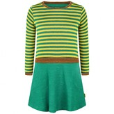 Oilily OililyGirls Green Striped Toop Jersey Dress