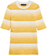 Banana Republic Stretch-Cotton Ribbed Sweater Top