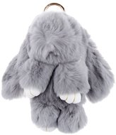 MagiDeal Fashion Cute Soft Fluffy Rabbit Doll Handbag Key Chain Pendant Accessories
