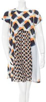 Suno Printed Silk Mini Dress w/ Tags