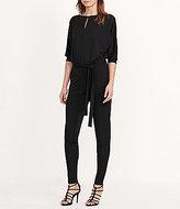 Lauren Ralph Lauren Jersey Front Keyhole Elbow-Sleeve Slim-Leg Jumpsuit