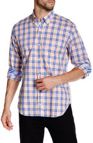 Tailorbyrd Orange Long Sleeve Plaid Woven Shirt