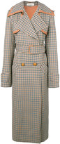 Nina Ricci checked trench coat