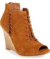Linea Paolo 'Wren' Peep Toe Wedge Bootie (Women)