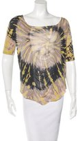 Raquel Allegra Tie-Dye Bateau Neck T-Shirt