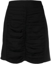 Thumbnail for your product : Ganni Ruched Mini Skirt