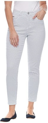 FDJ French Dressing Jeans Dot Print Olivia Slim Ankle in Navy (Navy) Women's Casual Pants