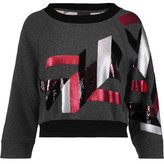 Just Cavalli Sequinned Cotton-Blend Jersey Sweater