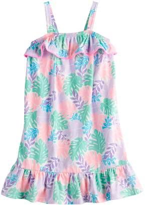Girls 4-12 Jumping Beans Ruffled Floral Dress