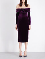 Emilio De La Morena Oili off-the-shoulder velvet dress
