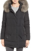 Derek Lam 10 Crosby Women's Relaxed Water Resistant Down Parka With Genuine Fox Fur Trim