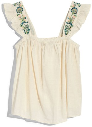 Madewell Embroidered Strap Swing Top (Regular & Plus Size)