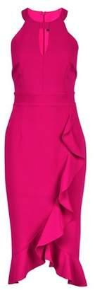 Dorothy Perkins Womens **Showcase Magenta 'Romy' Ruffle Bodycon Dress
