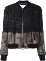 3.1 Phillip Lim floral cloqué bomber jacket - women - Silk/Polyamide/Polyester/Virgin Wool - 16