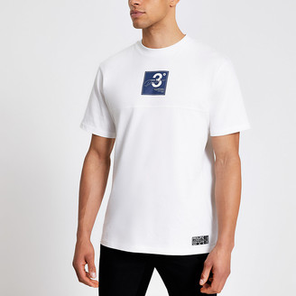 River Island Prolific white logo print regular fit T-shirt