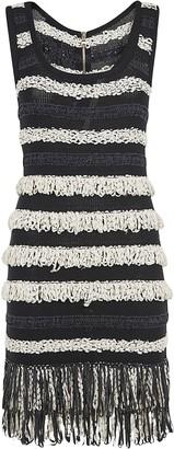 Balmain Fringed Detail Sleeveless Dress