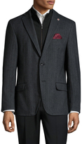 Ben Sherman Herringbone Notch Lapel Sportcoat