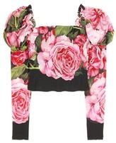 Dolce & Gabbana Silk-blend top