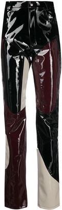 GmbH Colour-Block Vinyl Trousers