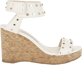Jimmy Choo Nelly Leather Wedge Sandals