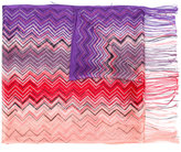 Missoni zig zag crochet knit scarf - women - Viscose - One Size