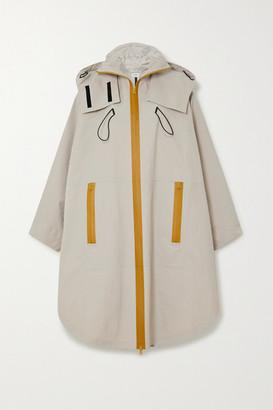 Bottega Veneta Oversized Hooded Shell Jacket - Beige