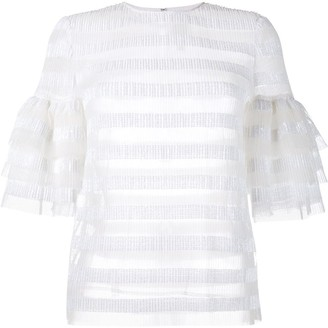 Huishan Zhang Striped Sequin Top